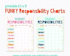 Lovely Ideas Marketplace by crystalnale on Etsy Weekly Chore Charts, Weekly Chores, Printable Chore Chart, Chore Chart Kids, Free Printable, Printable Activities For Kids, Learning Activities, Kid Printables, Age Appropriate Chores For Kids