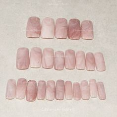 2016 Hot selling long marble nails, pink marble, natural texture aritificial nails