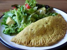 """Vegan soul food veggie pockets! These sound SO good! Found on www.MapleSpice.com. The blogger says she made """"something else from Bryant Terry's """"Vegan Soul Kitchen"""""""" .. #Vegan and #SoulFood? Yum! Love that these are also made with coconut oil (and turmeric... great spice!)"""