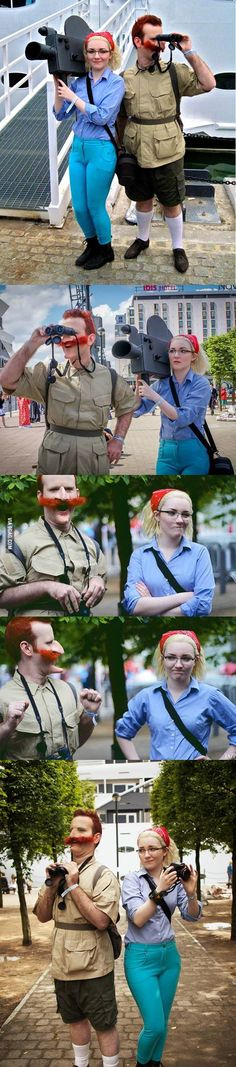 The Wild Thornberrys cosplay - Fandom Shirts - Ideas of Fandom Shirts - The Wild Thornberrys cosplay disfraces madre e hija Cosplay Anime, Epic Cosplay, Amazing Cosplay, Couples Cosplay, Cosplay Outfits, Halloween Cosplay, Halloween Costumes, Halloween Makeup, Halloween Parejas