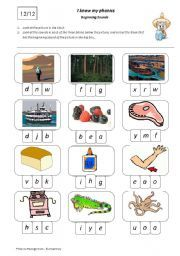 English teaching worksheets: Beginning sounds