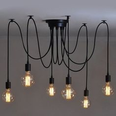 6 pcs Luminaire Suspension-Style Européen Moderne IKEA Lampe Pendante & Lampe Plafonnier-DIY Installation Facile pour Éclairage Cuisine, Salle À Manger, Salon, Chambre D'enfants et de Restaurant: Amazon.fr: Luminaires et Eclairage: