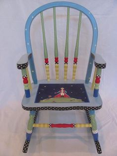 Hand Painted Little Prince Rocking Chair