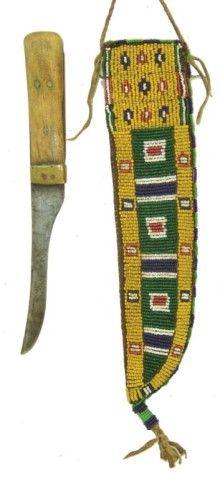 Cheyenne Beaded Knife Sheath & Knife
