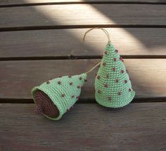 Mint Cristmas Tree Decoration Crocheted by DesireKnitAndCrochet, $31.80