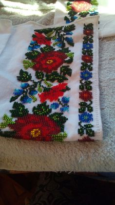 Beading Patterns Free, Free Pattern, Afghan Dresses, Embroidery Fashion, Embroidery Designs, Diy And Crafts, Cross Stitch, Lily, Traditional