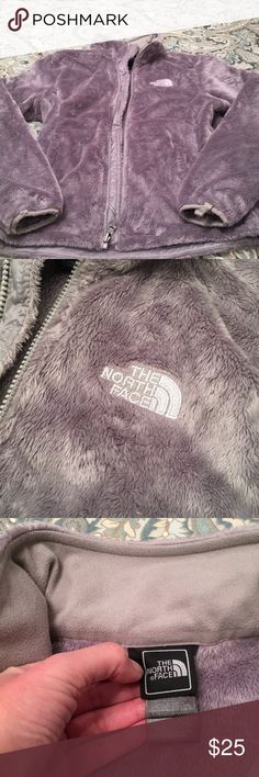 North Face Jacket North Face Denali style fleece jacket - size small. Gray color, with white North Face logo on front. Great condition with no stains, tears or rips. Cleaning out my closet, and I just don't wear this anymore. No trades please. Thanks! :) North Face Jackets & Coats