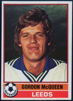 Gordon McQueen Player Card, Leeds, Mcqueen, Baseball Cards, Antique, Sports, Movies, Movie Posters, Trading Cards