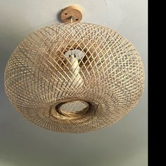 Bamboo Pendant Light, Repurposed Fish Trap Ceiling Lamp, Asian Oblong and Round Woven Bamboo Hanging Lamp, Boho Chinese Lantern / Bamboo Pendant Light, Round Pendant Light, Rustic Pendant Lighting, Bamboo Lamp, Ceiling Canopy, Ceiling Lamp, Ceiling Lights, Trap, Bamboo Basket