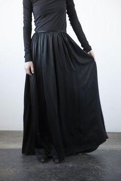 Silk Floor Length Skirt with Bow