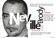 poster for Neville Broody using typography