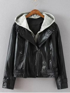 GET $50 NOW | Join RoseGal: Get YOUR $50 NOW!http://www.rosegal.com/plus-size-outerwear/plus-size-hooded-biker-jacket-793026.html?seid=8458352rg793026