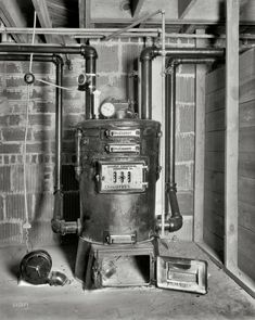 Coal Furnace?......Shorpy Historical Photo Archive :: Central Heat: 1932