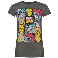 Tričko Character Short Sleeved T Shirt Ladies Marvel