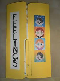 Cute lap book idea to teach feelings! Social Emotional Activities, Feelings Activities, Social Emotional Development, Counseling Activities, Therapy Activities, Work Activities, Play Therapy, Therapy Ideas, School Social Work