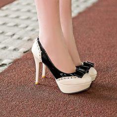Cute Bow Design High Heel Fashion Shoes on Luulla