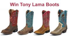 Win your choice of Tony Lama Boots in December. (up to $275 in value) We Love our Fans!