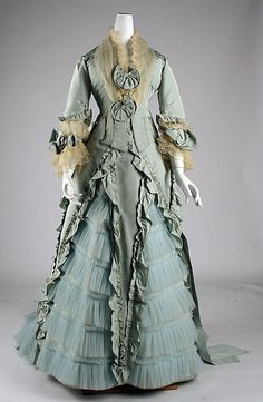 Fashions From History — Dinner Dress A. Corbay 1873 MET