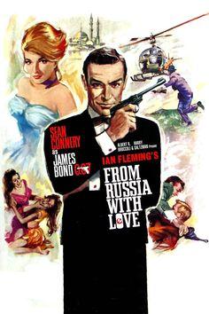 James Bond: From Russia With Love James Bond Movie Posters, James Bond Movies, Movie Poster Art, Typo Poster, Love Movie, Movie Tv, Sean Connery James Bond, Bond Series, Tv Series