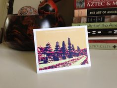 Funny greeting card valentines love Indonesia by ArchiGRAPH, $3.50