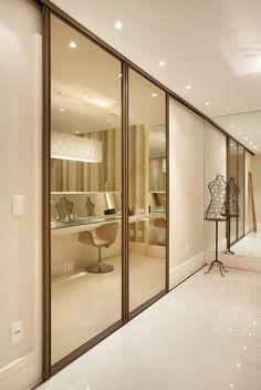 33 Ideas For Bedroom Closet Design Built In Wardrobe Sliding Doors Bedroom Closet Doors, Wardrobe Design Bedroom, Wardrobe Doors, Wardrobe Closet, Built In Wardrobe, Bedroom Colors, Bedroom Decor, Closet Designs, Deco Design