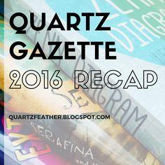 Quartz Gazette 2016 Recap // The Books Movies and Shows of 2016  The Return of the Gazette  Animation Books Movies Quartz Gazette