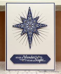 2016  JanB Handmade Cards Atelier: Star of Light  USING THE  Star Of Light Photopolymer Stamp Set	142110 Price: $26.00 ,  Starlight Thinlits Dies	141840 Price: $29.00 , Project Life Cards & Labels Framelits Dies	135707 Price: $25.00 ,  Kinda Eclectic Clear-Mount Stamp Set	135350 Price: $20.00