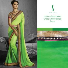 It's a striking color don't you think? #SwahaSaree