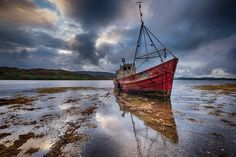 The abandoned fishing boat, Sabrina, Milroy bay, Donegal, Ireland © Trevor Cole