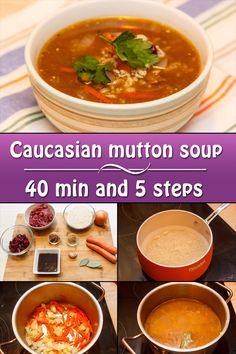 Caucasian mutton soup