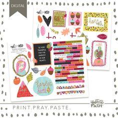 Harvest in Our Hearts - Illustrated Faith Free Printable Stickers, Faith Bible, Illustrated Faith, Scripture Art, Print And Cut, Ephemera, Harvest, Pray, Original Art