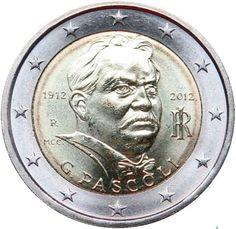 """Moneta Commemorativa """"100° anniv. morte Giovanni Pascoli"""" Anno: 2012 Stato: Italia"""