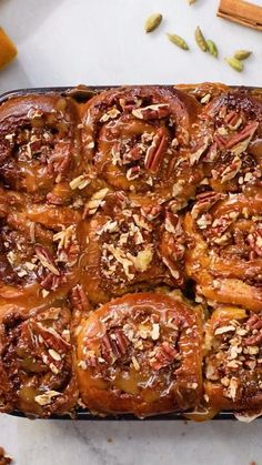 The Best Ever Sticky Buns Looking for a cinnamon and pecan rolls recipe? These sticky buns will satisfy your craving. Baking Tins, Baking Recipes, Cake Recipes, Dessert Recipes, Desserts, Pecan Rolls, Cinnamon Rolls, Pecan Sticky Buns, Bun Recipe