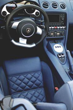 Lamborghini Navy Interior