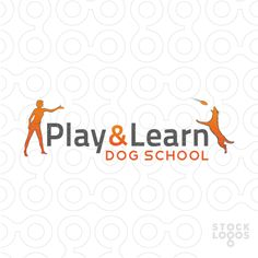 Logo designed for a dogs training school, where dogs learn new skills by playing and interacting.