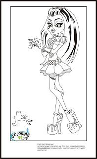 Monster High Frankie Stein Coloring Pages