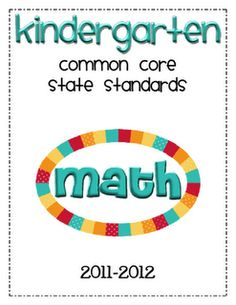 Kindergarten Common Core for Parents.  Includes Math and ELA (free!!)