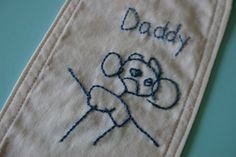 embroidering childrens artwork