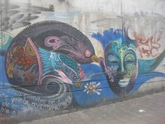 Some of the street art on offer in Medellin.