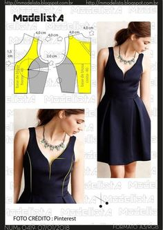54 Ideas Sewing Dress Patterns Dressmaking For 2019 Sewing Dress, Dress Sewing Patterns, Sewing Clothes, Clothing Patterns, Diy Clothes, Easy Sew Dress, Diy Dress, Fashion Sewing, Diy Fashion