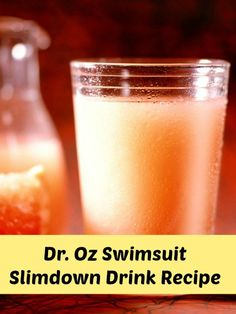 Dr Oz has done it again! He's come up with another delicious drink recipe to help you fight the fat and look great in your swimsuit.