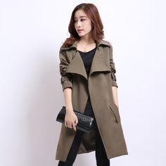 Wholesale 2017 autumn coat women long sections solid women trench good quality chaquetas mujer jaqueta feminina casaco feminino #Affiliate