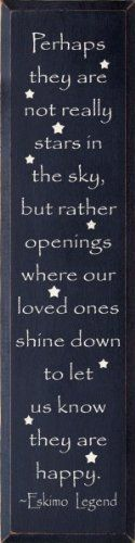 Perhaps They Are Not Stars In The Sky But Rather... - Eskimo Legend (large) Wooden Sign:Amazon:Home  Kitchen