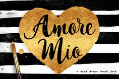 Amore Mio Brush Font