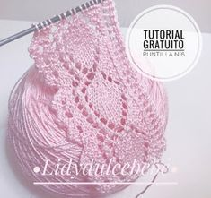 Knit Point of Flower Stitch Free Knitting Pattern+Video Easy Knitting Patterns, Lace Patterns, Lace Knitting, Knitting Stitches, Crochet Lace, Crochet Patterns, Drops Design, Diy Crafts Crochet, Free Images