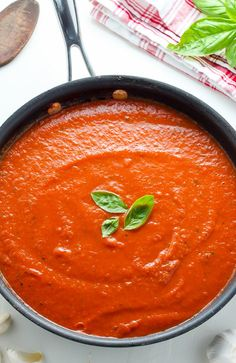 Happiest of Fridays to you! On today's menu we have classic marinara sauce. Marinara is one of those recipes that's so easy AND satisfying, you can easily find yourself making it once a week. I know we do! It's great over noodles – and that's how we eat it most of the time – but …
