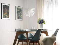 Valkoinen kattovalaisin MUSONE_685203 Beliani, Decor, Table, Curtains, Furniture, Home Decor, Dining, Dining Table