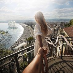 Russian photographer Murad Osmann has been snapping photographs of his travels with his beautiful girlfriend Nataly Zakharova