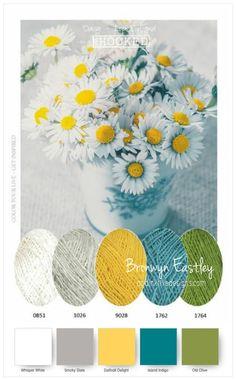 Colour Combinations for Daisy Delight – Part B – addinktive designs