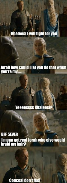 Jorah Mormont, King of the Seven Friendzones